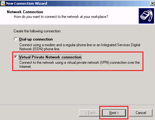 Virtual Private Network connection