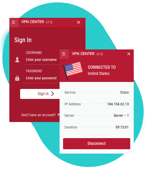 vpncenter app - How to setup vpn